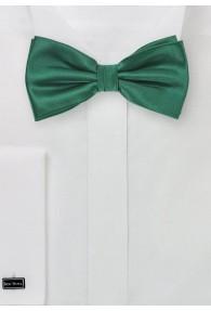 Herrenschleife einfarbig edelgrün