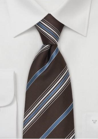 Gestreifte Krawatte braun blau