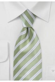 Krawatte Kinder Streifendessin blassgrün