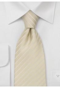 Gestreifte Krawatte champagner weiß