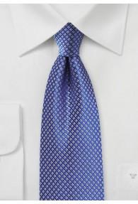 Krawatte Waffelmuster blau