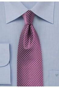 Krawatte Waffelmuster lila