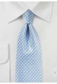 Krawatte eisblau schneeweiß Gitter-Struktur