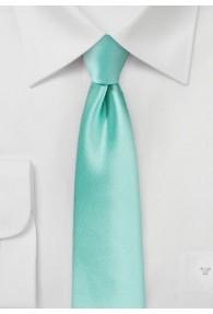 Schmale Krawatte in mint/türkis