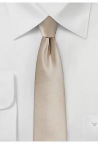 Krawatte schmal geformt Poly-Faser beige