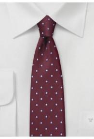 Schmale Krawatte bordeaux taubenblau...