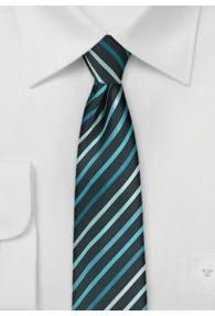 Kravatte schmal geformt Streifen mintgrün schwarz