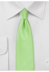 Krawatte strukturiert blassgrün schmal geformt