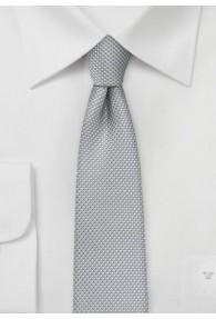 Kravatte strukturiert silber schlank