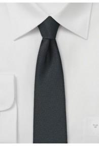 Krawatte strukturiert nachtschwarz schmal