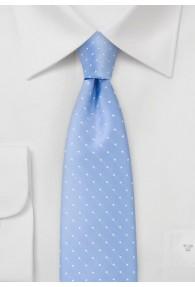 Krawatte schmal geformt Punkte eisblau