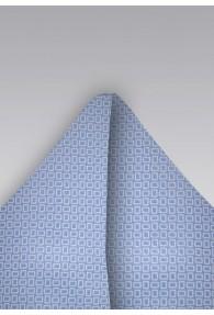 Ziertuch Kästchen-Dekor taubenblau