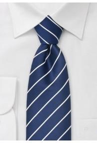Clip-Krawatte Streifenmuster navy perlweiß