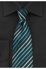 Clip-Krawatte Streifendessin schwarz mint