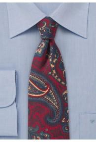 Paisley-Motiv-Krawatte Wolle mittelrot