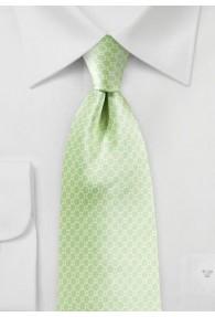 Krawatte Gitter- Muster hellgrün Retro