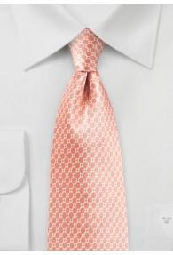 Krawatte Netz- Dessin lachsfarben Retro