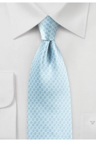 Krawatte Netz- Pattern eisblau Retro