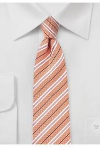 Krawatte Baumwolle Streifenmuster lachs