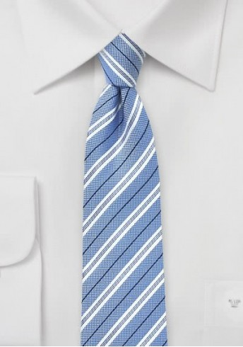Kravatte Baumwolle Streifendesign eisblau