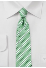 Kravatte Baumwolle Streifendesign hellgrün