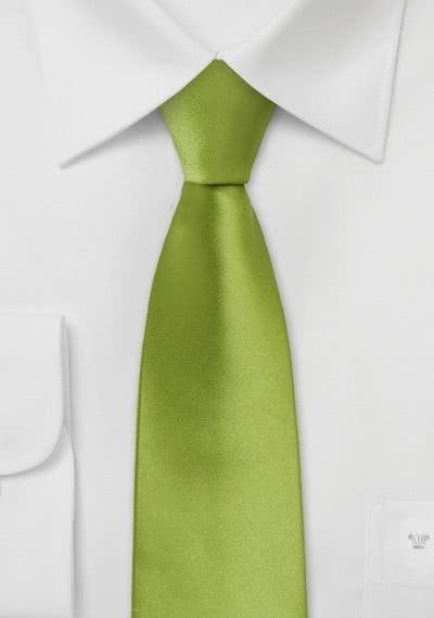 Limoges Schmale Krawatte apfelgrün