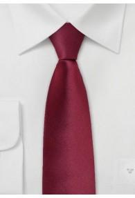Schmale Krawatte weinrot