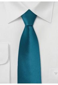 Schmale Krawatte in edlem Petrol