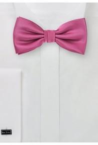 Herrenfliege Poly-Faser pinkfarben
