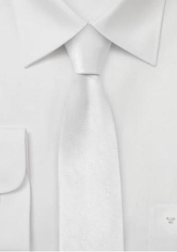 Limoges Schmale Krawatte in reinem weiß