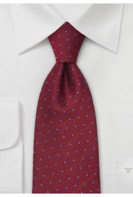 Fertig gebundene Krawatte Pünktchen mittelrot...