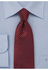 XXL-Krawatte rot Lamellen-Struktur