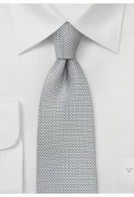 XXL-Krawatte silbergrau Struktur