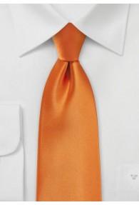 XXL-Kravatte orange Kunstfaser
