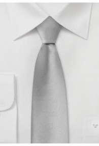 Schmale Krawatte festliches Silber