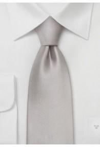 Clip-Krawatte festliches Silber