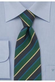 Krawatte blau/gelb gestreift 2. Wahl