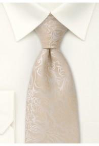XXL-Krawatte Hochzeit Rankenmuster champagner