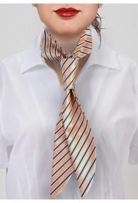 Damen-Halsbinde gestreift orange asphaltschwarz