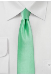 Krawatte schmal unifarben mintgrün