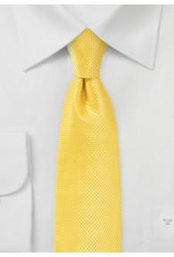 Kravatte  schmal Gitter-Oberfläche gelb
