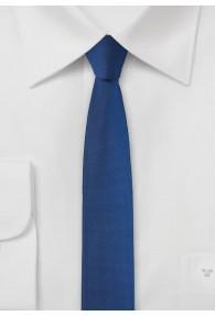 Herrenkrawatte extra schlank blau