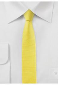 Krawatte extra schlank gelb