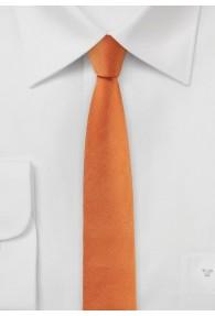Krawatte extra schmal geformt orange