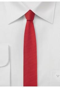 Krawatte extra schlank mittelrot
