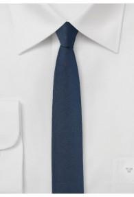 Krawatte extra schlank dunkelblau