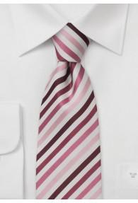 XXL-Krawatte Streifen rosa