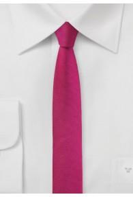 Krawatte extra schlank dunkelrosa