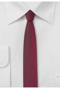 Krawatte extra schlank dunkelrot