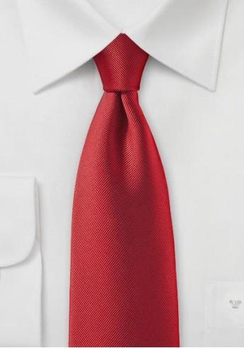 Businesskrawatte Luxus rot geriffelt